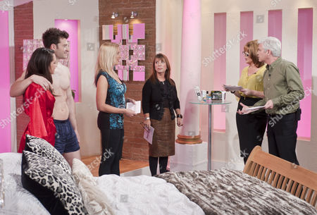 Stock Image of Ruth Langsford and Phillip Schofield with sex experts Maria Porsfelt and Jo Hemming