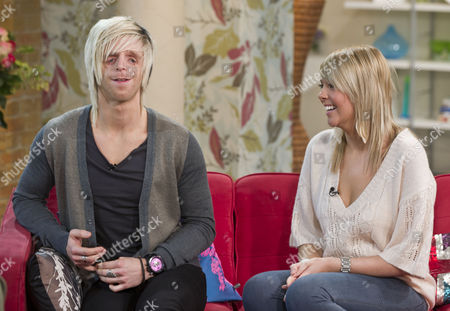 Jono Lancaster with his girlfriend Laura.