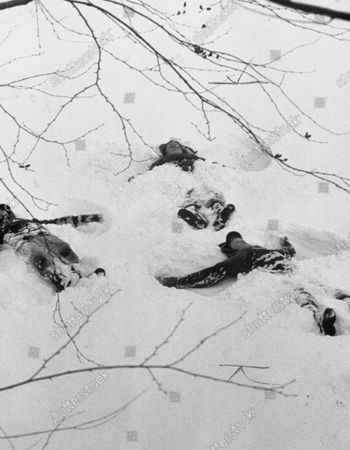 Editorial image of Children Playing Snow, New York, USA