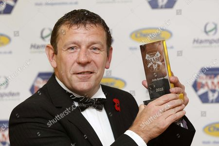 Andy Goram recieves his trophy