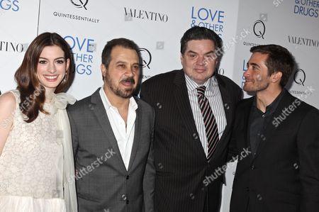 Anne Hathaway, Ed Zwick, director, Oliver Platt and Jake Gyllenh