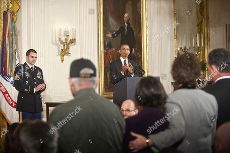 Army Staff Sergeant Salvatore Giunta, President Barack Obama