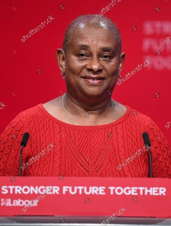 Stock Image of Doreen Lawrence during the Labour party conference