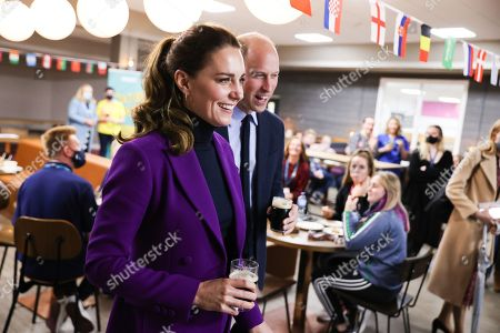 Prince William and Catherine Duchess of Cambridge take a tour of the Ulster University Magee Campus on September 29, 2021 in Londonderry, Northern Ireland.