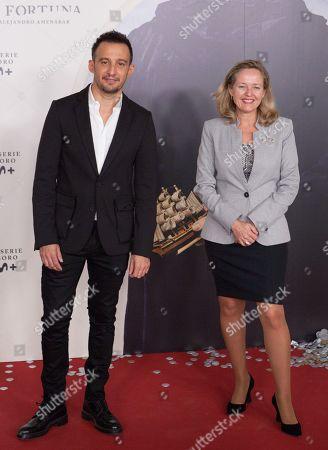 Stock Photo of Alejandro Amenabar and Nadia Calvino