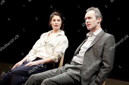 Gemma Arterton (Hilde Wangel) and Stephen Dillane (Halvard Solness)