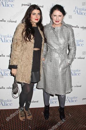 Luisa Beccaria (R) and daughter Lucilla