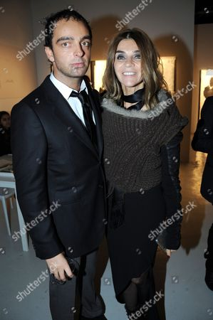 Andy Valmorbida and Carine Restoin Roitfeld