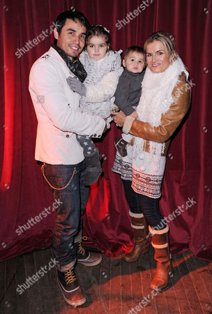 Trey Farley, Katy Hill and children Kaya Skye and Akira