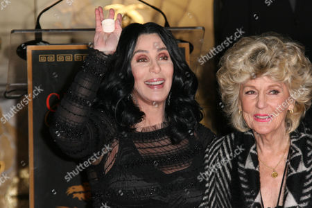 Stock Picture of Cher and Mother Georgia Holt