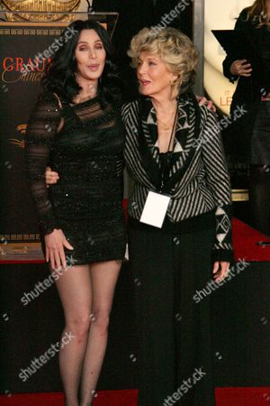 Stock Photo of Cher and mother Georgia Holt