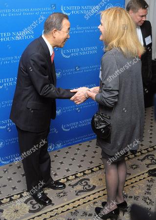 UN Secretary-General Ban Ki-moon and Catherine Crier