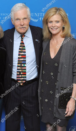 Ted Turner and Catherine Crier