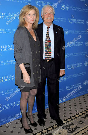 Catherine Crier and Ted Turner
