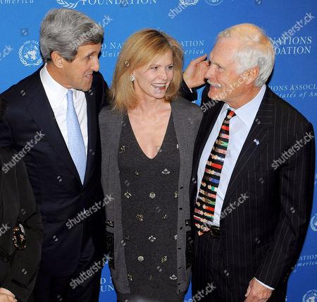 Senator John Kerry, Catherine Crier and Ted Turner