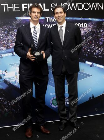 Andy Murray with ATP World Tour CEO Adam Helfant