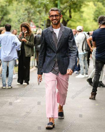 Editorial image of Street Style, Milan Fashion Week, Italy - 22 Sep 2021