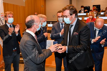 Editorial picture of Inauguration Rooms Parliament, Valenciennes, Brussels, Belgium - 27 Sep 2021