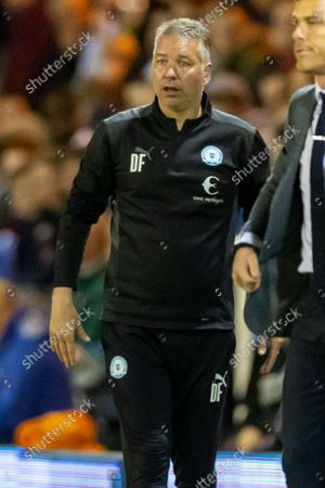 Peterborough United Manager Darren Ferguson  (m)  during the EFL Sky Bet Championship match between Peterborough United and Bournemouth at London Road, Peterborough