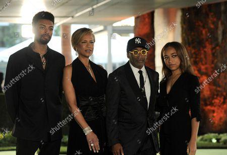 Stock Photo of Tonya Lewis Lee, Spike Lee, Satchel Lee and Jackson Lee