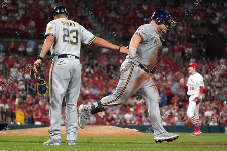 Editorial picture of Brewers Cardinals Baseball, St. Louis, United States - 29 Sep 2021
