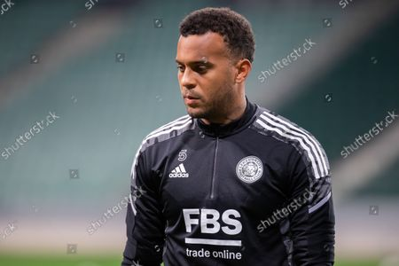 Ryan Bertrand of Leicester City FC seen during the official training session one day before the UEFA Europa League Group Stage match between Legia Warszawa and Leicester City FC at Marshal Jozef Pilsudski Legia Warsaw Municipal Stadium.
