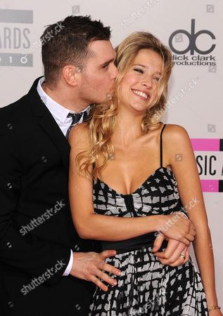 Michael Buble with fiancee Luisana Loreley Lopilato