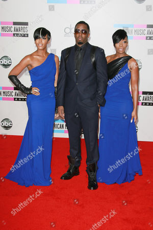 Sean Combs and singers Dawn Richard (L) and Kalenna Harper