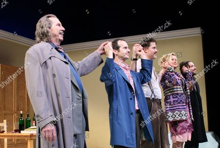 Stock Image of Richard Easton, Denis O'Hare, Brendan Fraser, Jennifer Coolidge and Jeremy Shamos