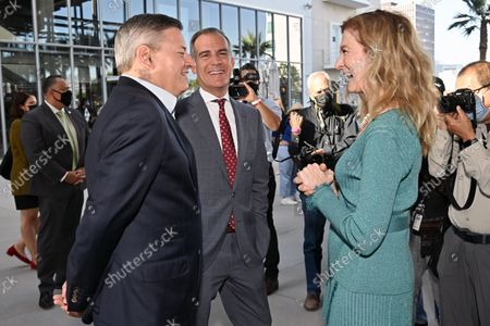 Ted Sarandos, Co-CEO and Chief Content Officer, Netflix, Eric Garcetti, City of Los Angeles Mayor and Dawn Hudson, CEO, Academy of Motion Picture Arts and Sciences