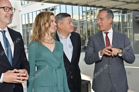 Bill Kramer, Director and President, Academy Museum, Dawn Hudson, CEO, Academy of Motion Picture Arts and Sciences, Ted Sarandos, Co-CEO and Chief Content Officer, Netflix and Eric Garcetti, City of Los Angeles Mayor