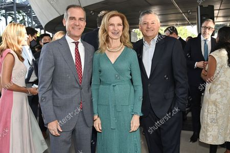 Eric Garcetti, City of Los Angeles Mayor, Dawn Hudson, CEO, Academy of Motion Picture Arts and Sciences and Ted Sarandos, Co-CEO and Chief Content Officer, Netflix