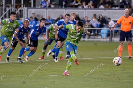 Editorial image of MLS Sounders Earthquakes Soccer, San Jose, United States - 29 Sep 2021