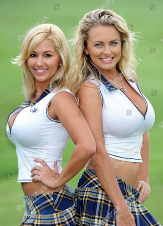 Stock Picture of Playboy Bunnies Amy Leigh Andrews and Shanna McLaughlin