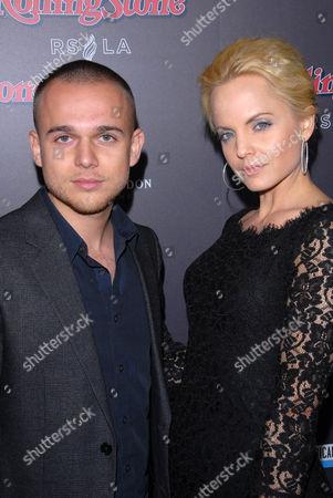 Stock Picture of Simone Sestito and Mena Suvari