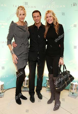Lisa Butcher, Robert Tateossian and Melissa Odabash