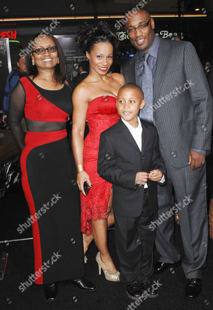 Director George Tillman Jr (R), Marcia Wright-Tillman (C) and family