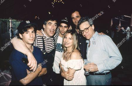 Jason Gould, Elliot Gould, Barbra Streisand, Peter Bogdanovich