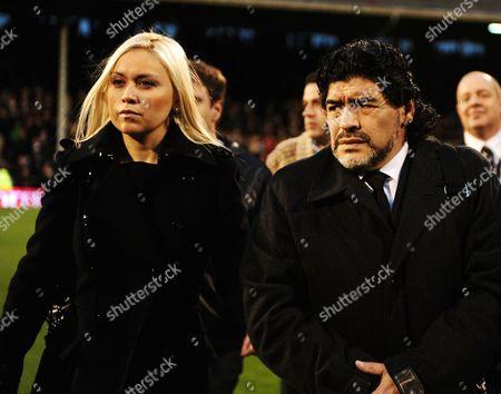 Diego Maradona and girlfriend Veronica Ojeda