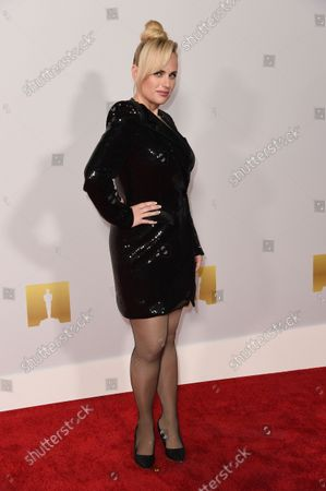 Rebel Wilson arrives at the Academy Museum of Motion Pictures Premiere Party, at the Academy of Motion Pictures Museum in Los Angeles