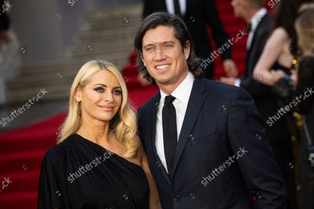 Stock Picture of Tess Daly and Vernon Kay pose for photographers ahead of the Balmain Spring-Summer 2022 ready-to-wear fashion show presented in Paris