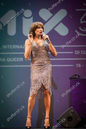 Stock Picture of Vladimir Luxuria at the Mix Festival in Milan, a gay, lesbian, queer and trans themed cinema competition.