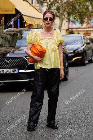 Editorial image of Cecilie Bahnsen show, Arrivals, Spring Summer 2022, Paris Fashion Week, France - 29 Sep 2021