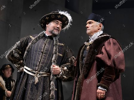 Stock Image of Nathaniel Parker as King Henry, Ben Miles as Thomas Cromwell,