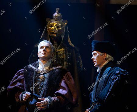 Stock Photo of Ben Miles as Thomas Cromwell,  Giles Taylor as Archbishop Cranmer