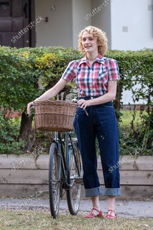 actress Charlotte Ritchie filming the ITV drama Grantchester looking unrecognisable to her normal roles. Ghosts actress Charlotte Ritchie looked unrecognisable as she sported blonde curly hair for her role in ITV's crime drama Grantchester.The 31-year-old brunette looked a world apart from her character Alison in the popular BBC One sitcom.In fact, Charlotte looked more like her character, Barbara Gilbert in BBC's period drama Call the Midwife, as she cycled around the streets of Grantchester in Cambridgeshire in 1950s attire.She was seen wearing a red and white checked shirt, stylish blue jeans and red shoes