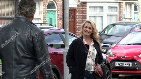 Coronation Street - Ep 10452 Monday 11th October 2021 - 1st Ep Dev Alahan, as played by Jimmi Harkishin, is intrigued when Natasha Blakeman, as played by Rachel Leskovac, mentions she is considering buying the closed Salon so that Sam can be closer to his dad and the Platt family.