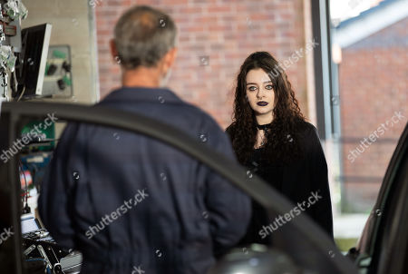 Coronation Street - Ep 10447 Monday 4th October 2021 - 2nd Ep Kevin Webster, as played by Michael Le Vell, shows Nina Lucas, as played by Mollie Gallagher, Corey's post match press conference he which he has dedicated his goal to Seb. She declares that she wants to kill him.