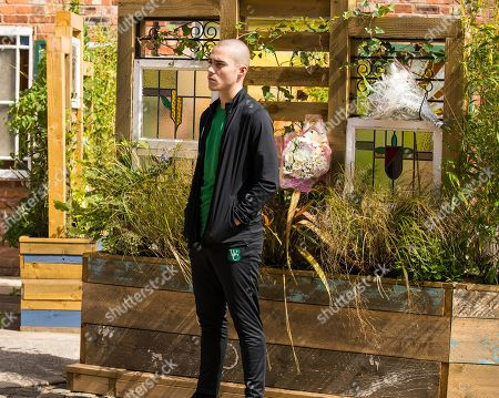 Coronation Street - Ep 10447 Monday 4th October 2021 - 2nd Ep When Nina Lucas is driving past Seb's memorial garden she sees Corey Brent, as played by Maximus Evans, in there laughing and she sees red. What will she do?