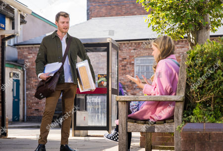 Stock Picture of Coronation Street - Ep 10449 Wednesday 6th October 2021 - 2nd Ep Summer Spellman, as played by Harriet Bibby, admits to Daniel Osbourne, as played by Rob Mallard, that she copied her mentor's statement. Daniel insists her first one was great and Oxford would be lucky to have her.